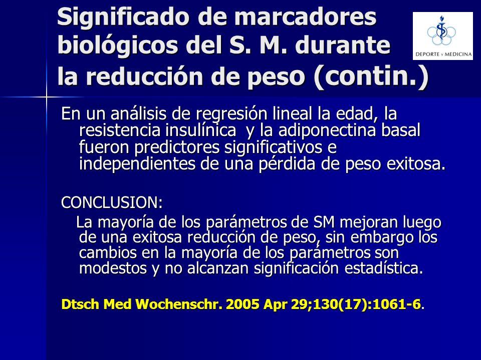 Significado de marcadores biológicos del S. M