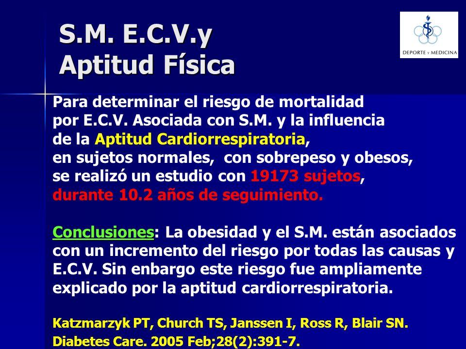 S.M. E.C.V.y Aptitud Física Para determinar el riesgo de mortalidad