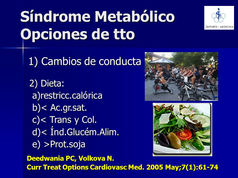 Síndrome Metabólico Opciones de tto