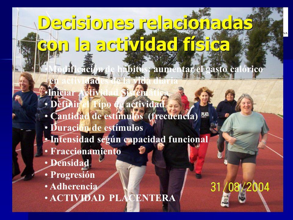 Decisiones relacionadas con la actividad física