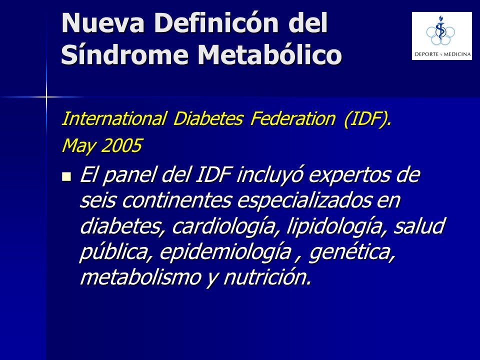 Nueva Definicón del Síndrome Metabólico