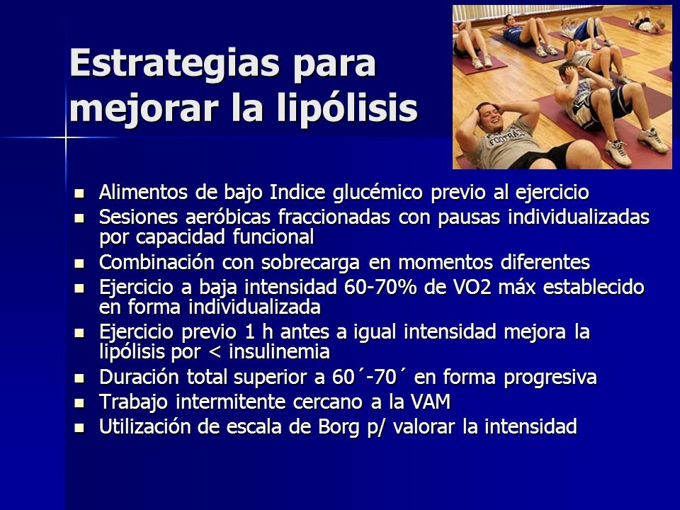 Estrategias para mejorar la lipólisis