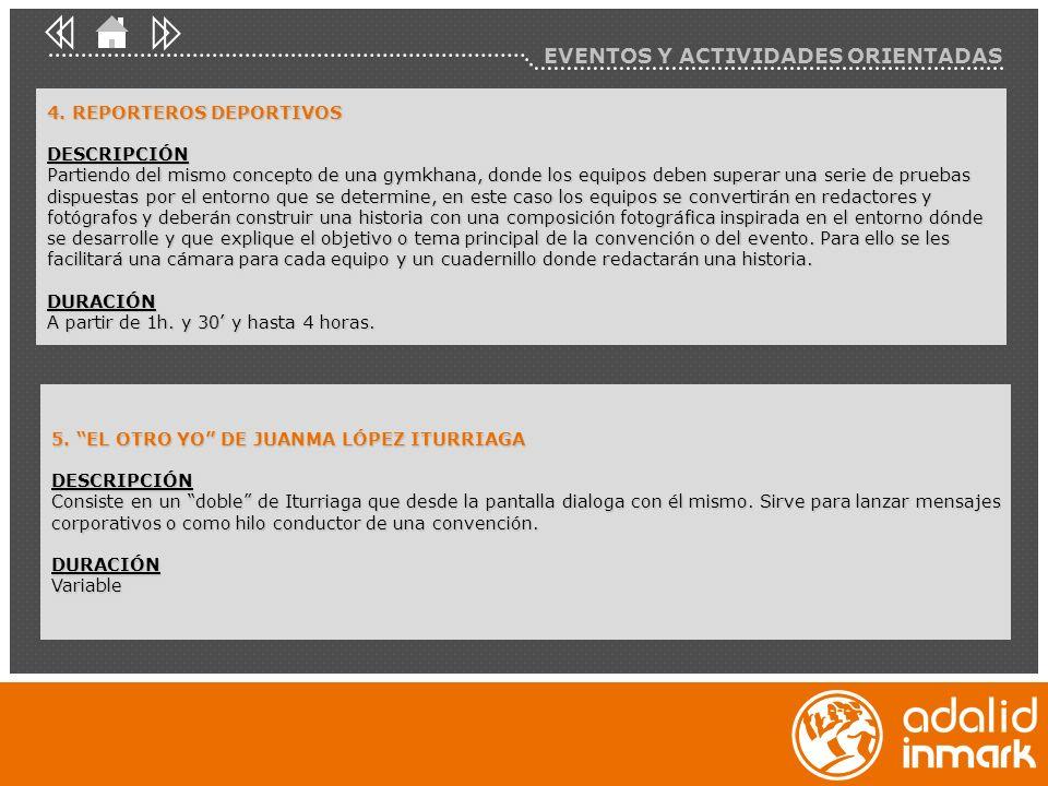 EVENTOS Y ACTIVIDADES ORIENTADAS