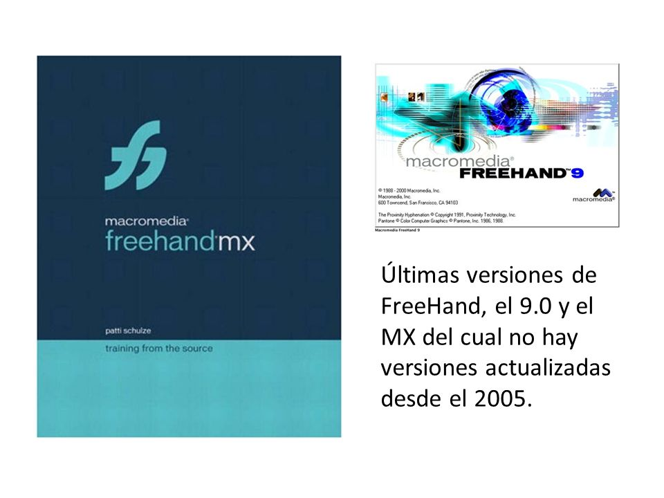 Últimas versiones de FreeHand, el 9