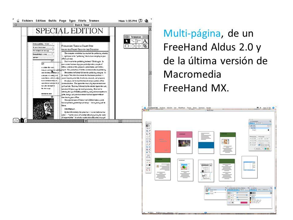 Multi-página, de un FreeHand Aldus 2