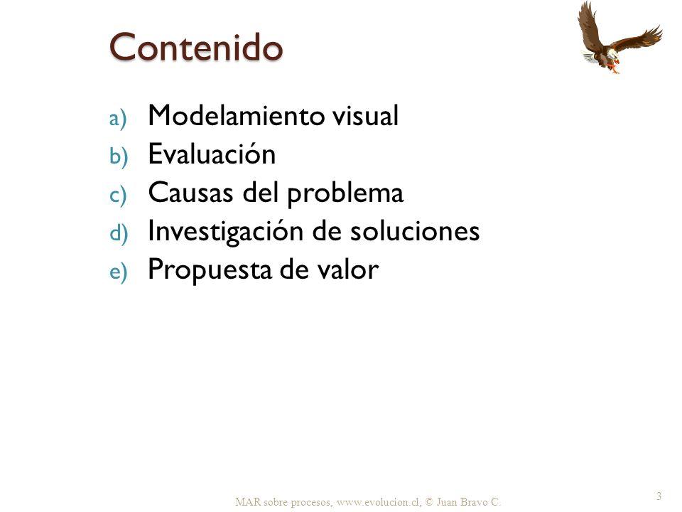 Contenido Modelamiento visual Evaluación Causas del problema