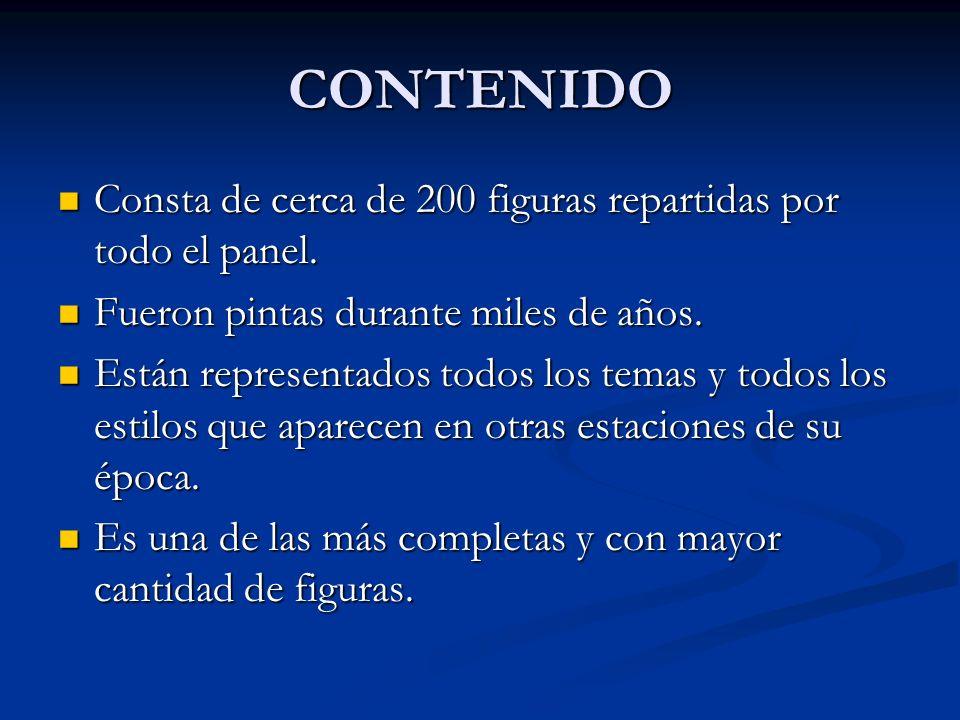 CONTENIDO Consta de cerca de 200 figuras repartidas por todo el panel.