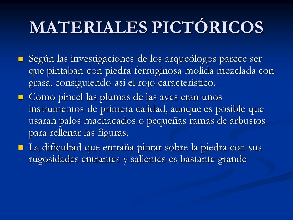 MATERIALES PICTÓRICOS