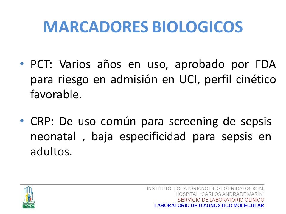 MARCADORES BIOLOGICOS