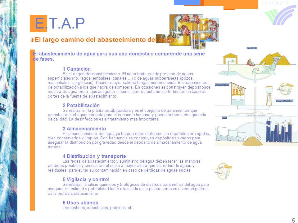E.T.A.P El largo camino del abastecimiento del agua