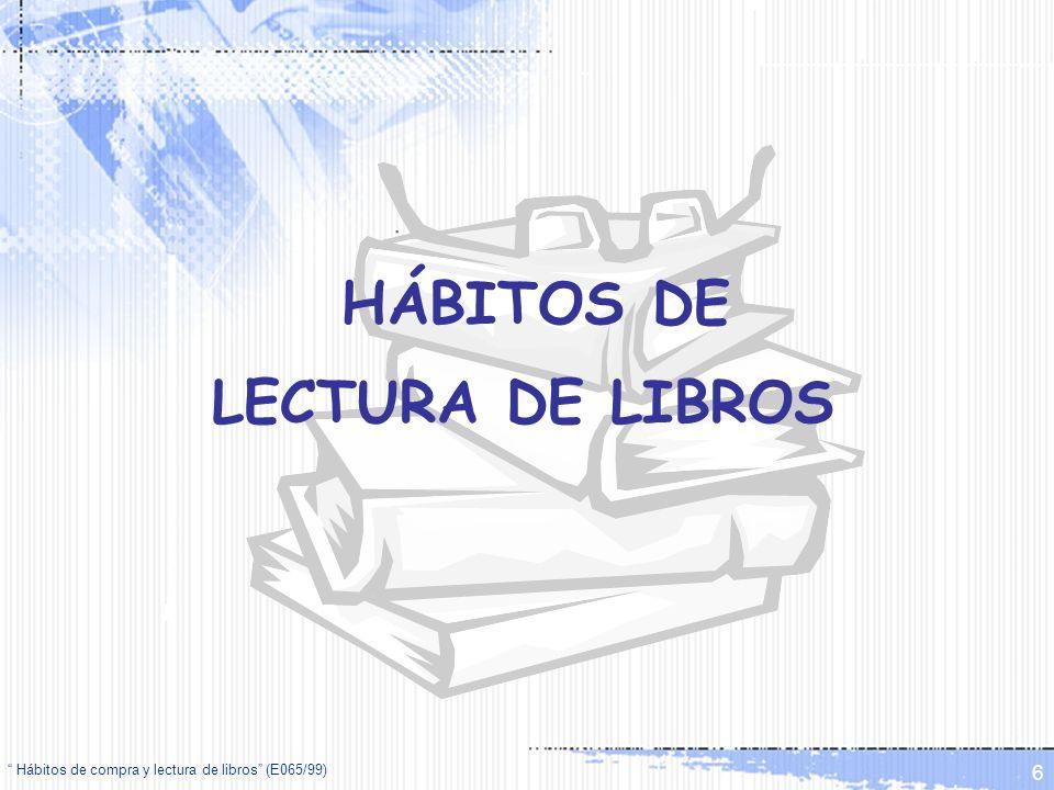 HÁBITOS DE LECTURA DE LIBROS