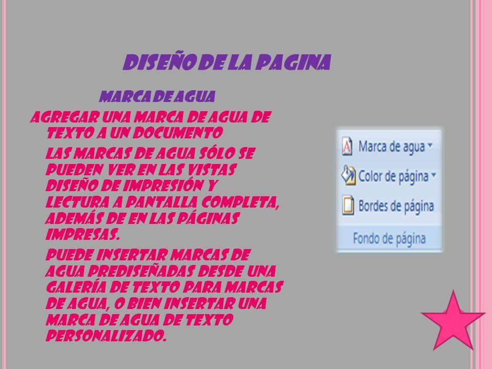 DISEÑO DE LA PAGINA