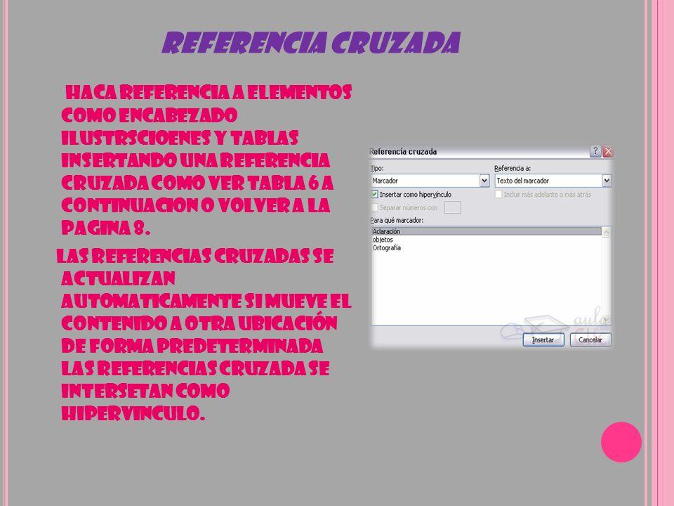 REFERENCIA CRUZADA
