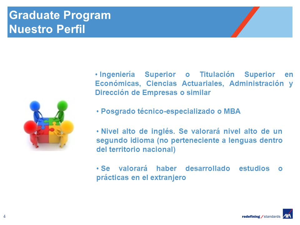 Graduate Program Nuestro Perfil