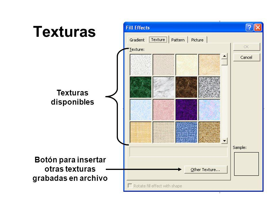 Botón para insertar otras texturas grabadas en archivo