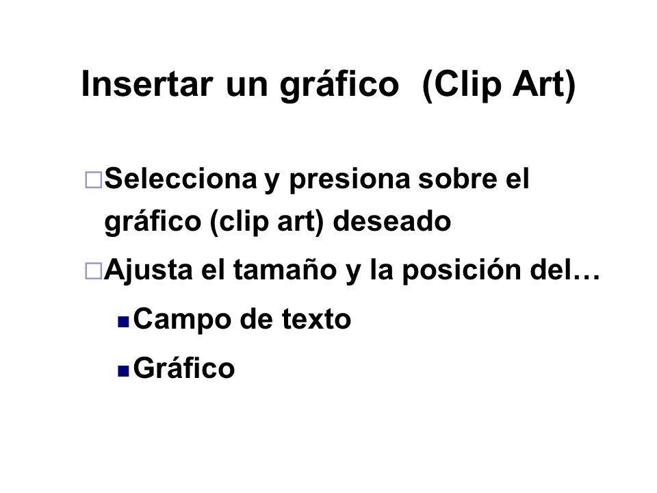 Insertar un gráfico (Clip Art)