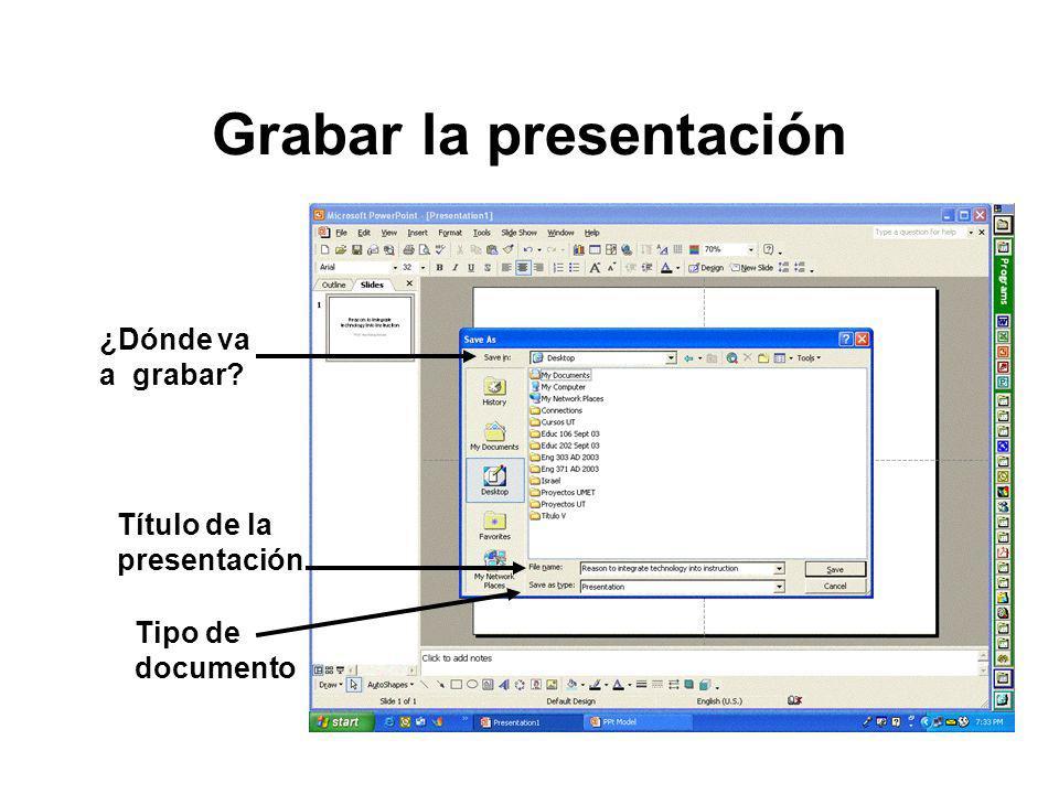 Grabar la presentación
