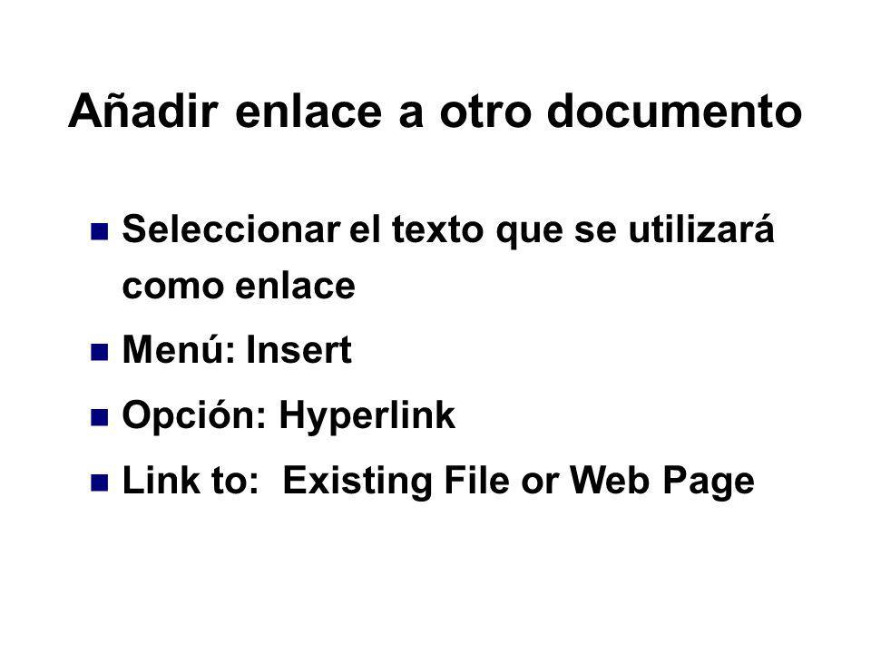 Añadir enlace a otro documento