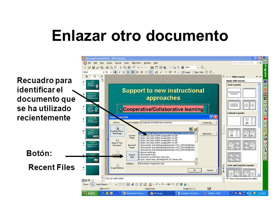 Enlazar otro documento