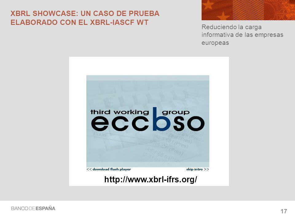 XBRL SHOWCASE: UN CASO DE PRUEBA ELABORADO CON EL XBRL-IASCF WT