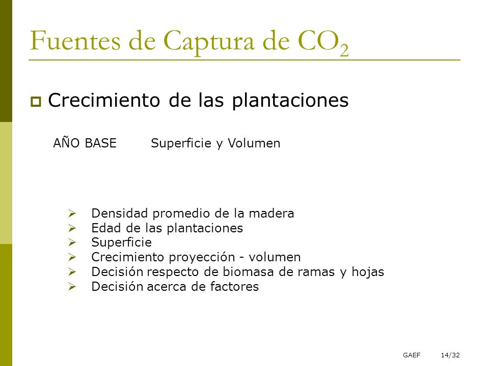 Fuentes de Captura de CO2