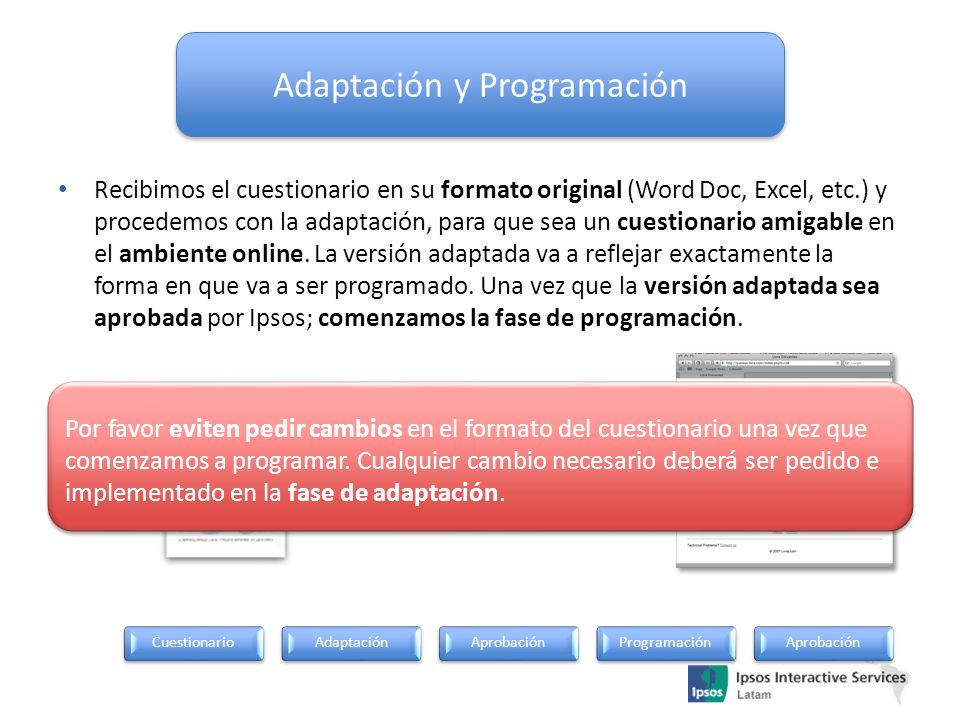 Adaptación y Programación