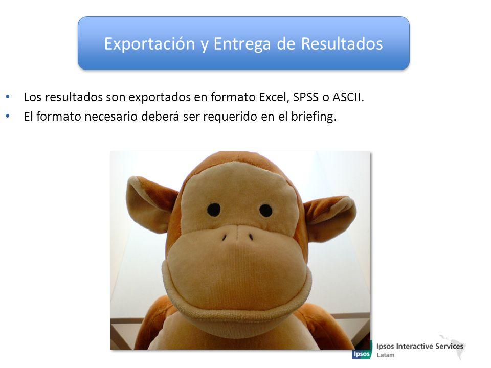 Exportación y Entrega de Resultados