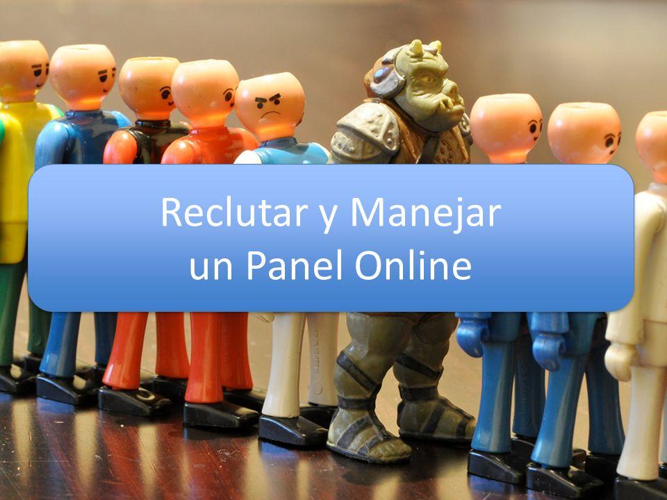 Reclutar y Manejar un Panel Online