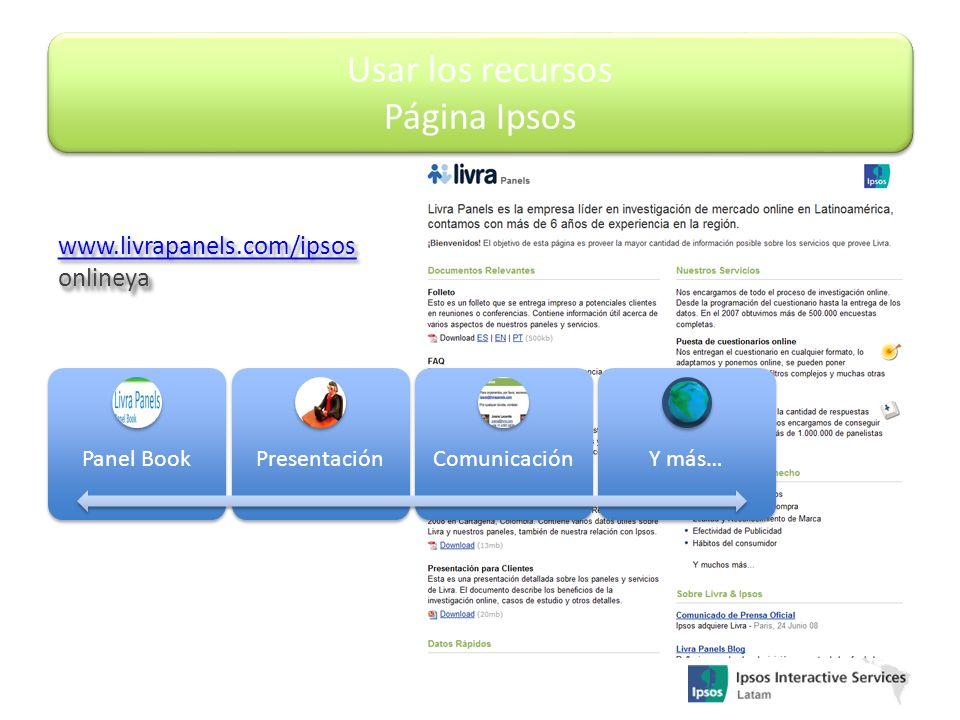 Usar los recursos Página Ipsos