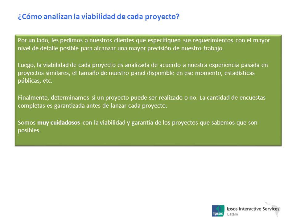 ¿Cómo analizan la viabilidad de cada proyecto