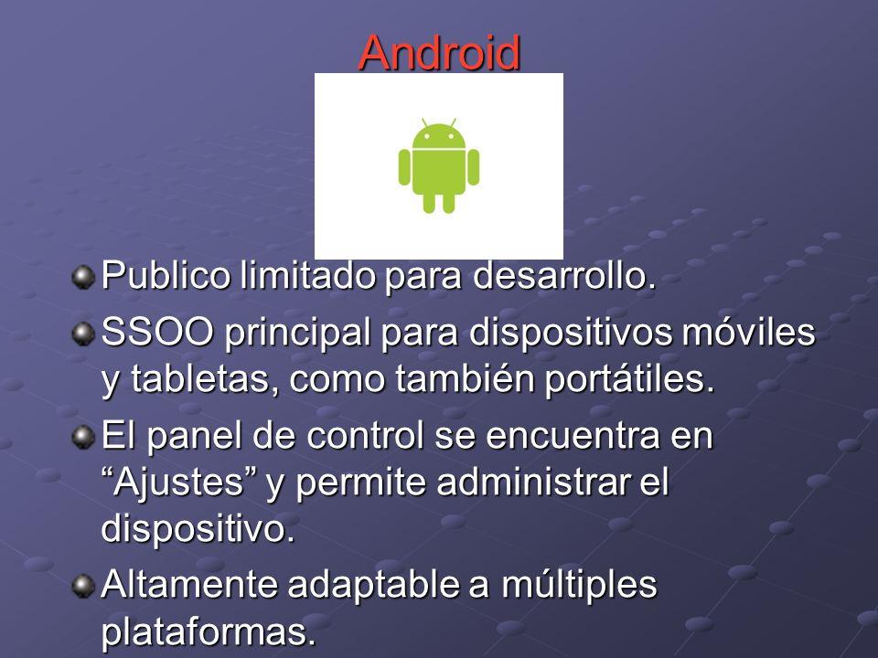 Android Publico limitado para desarrollo.