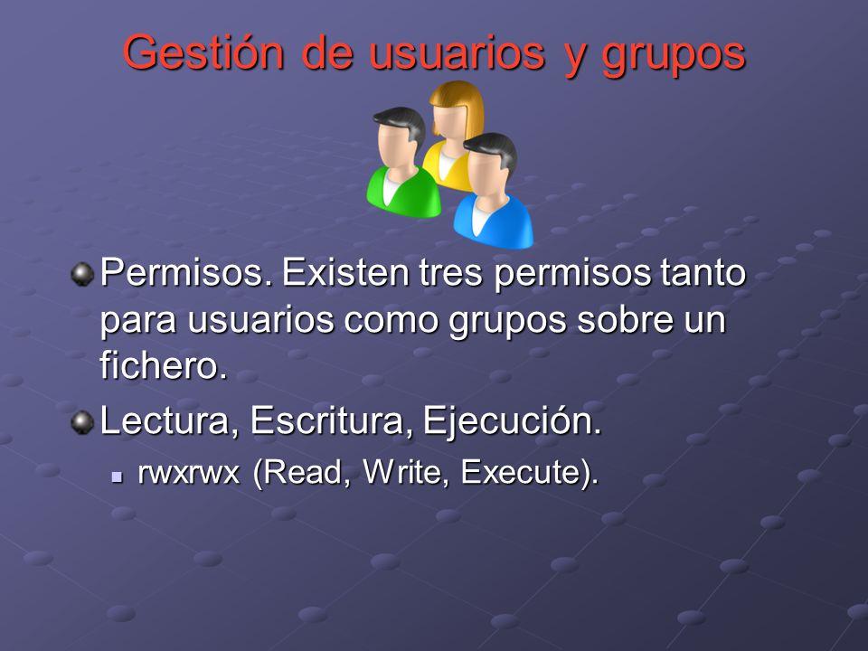 Gestión de usuarios y grupos