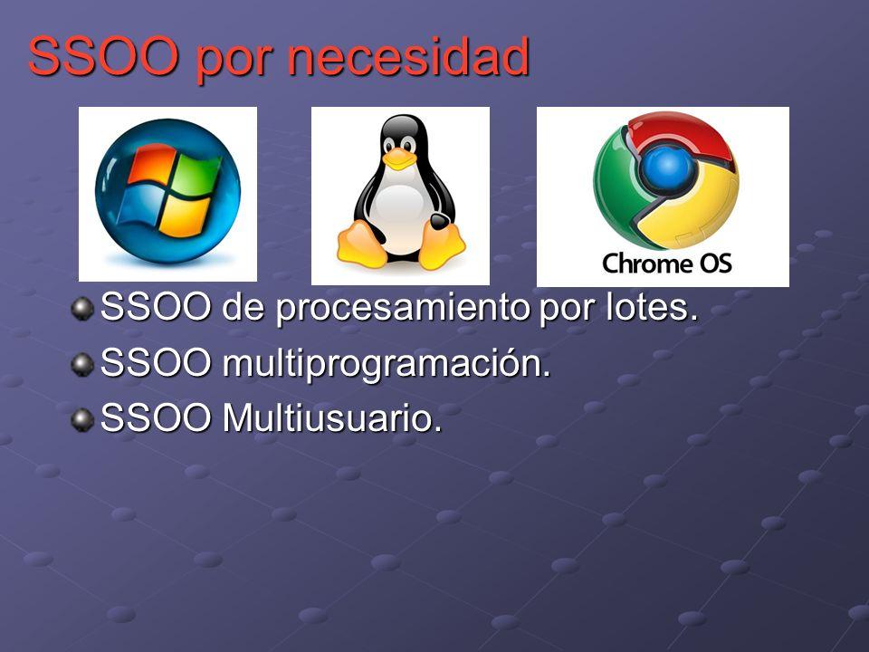 SSOO por necesidad SSOO de procesamiento por lotes.