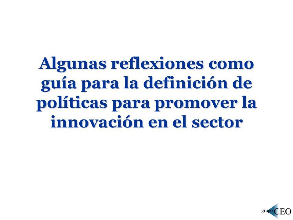 Algunas reflexiones como guía para la definición de políticas para promover la innovación en el sector