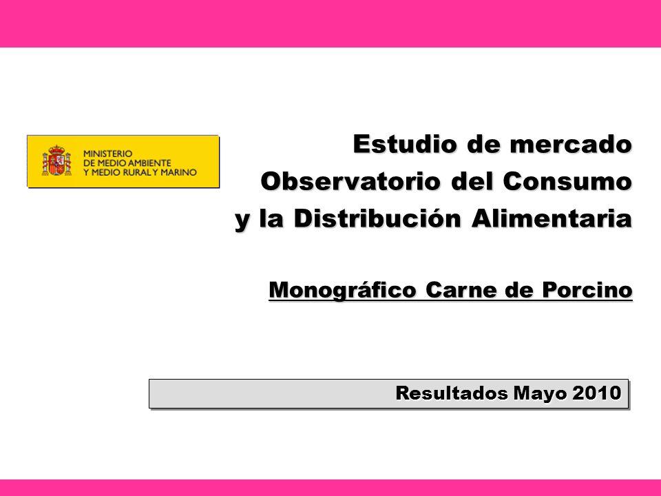 Estudio de mercado Observatorio del Consumo y la Distribución Alimentaria Monográfico Carne de Porcino