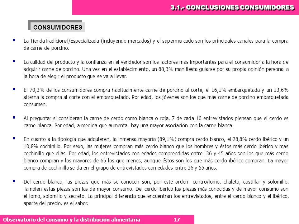 3.1.- CONCLUSIONES CONSUMIDORES