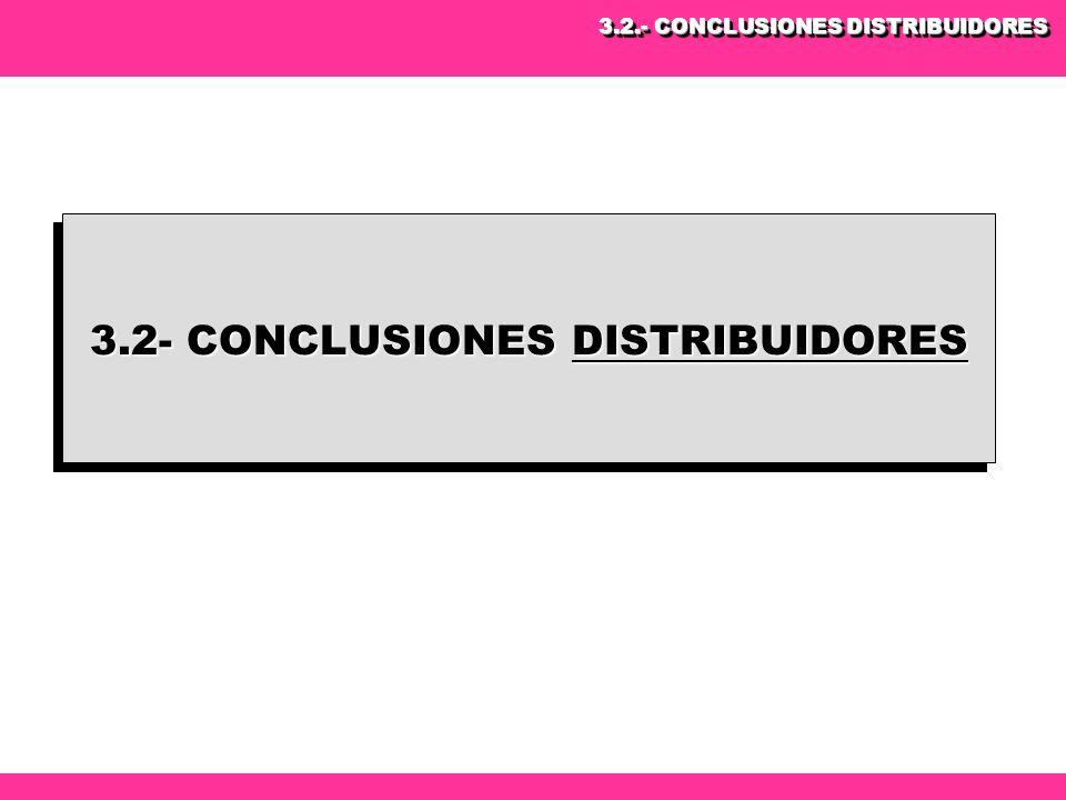 3.2- CONCLUSIONES DISTRIBUIDORES