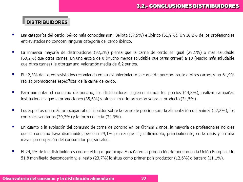 3.2.- CONCLUSIONES DISTRIBUIDORES