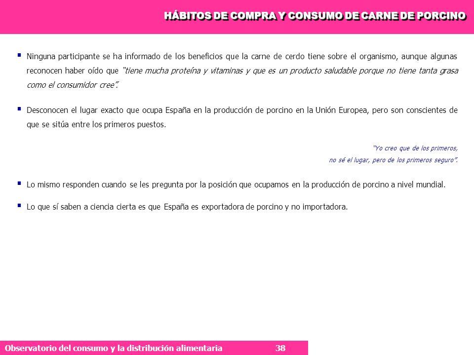 HÁBITOS DE COMPRA Y CONSUMO DE CARNE DE PORCINO