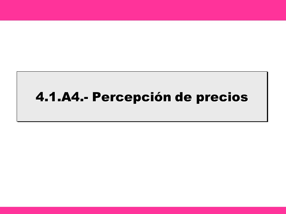 4.1.A4.- Percepción de precios