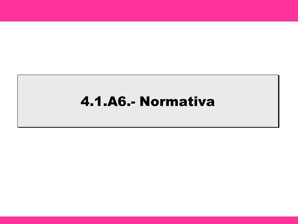 4.1.A6.- Normativa