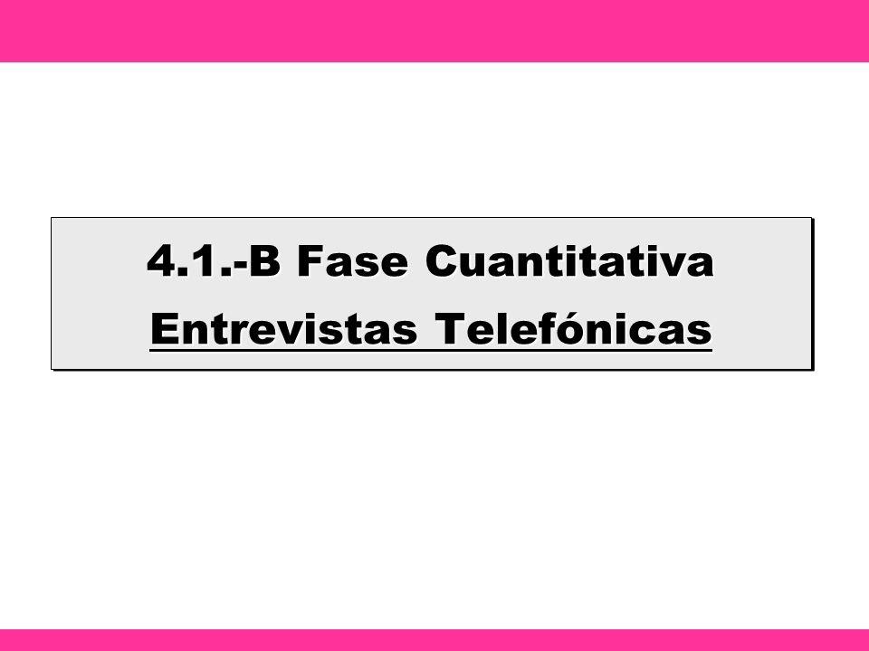 4.1.-B Fase Cuantitativa Entrevistas Telefónicas