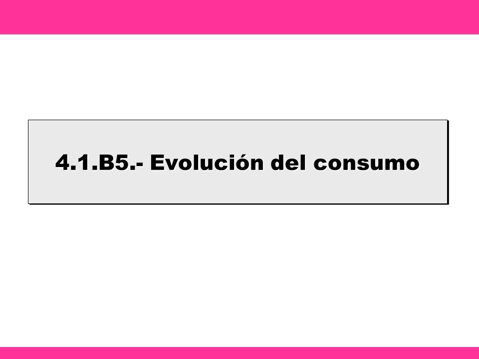 4.1.B5.- Evolución del consumo