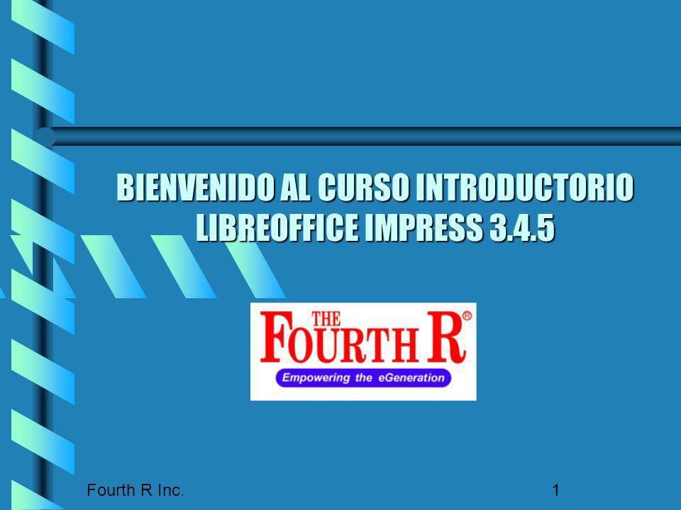BIENVENIDO AL CURSO INTRODUCTORIO LIBREOFFICE IMPRESS 3.4.5