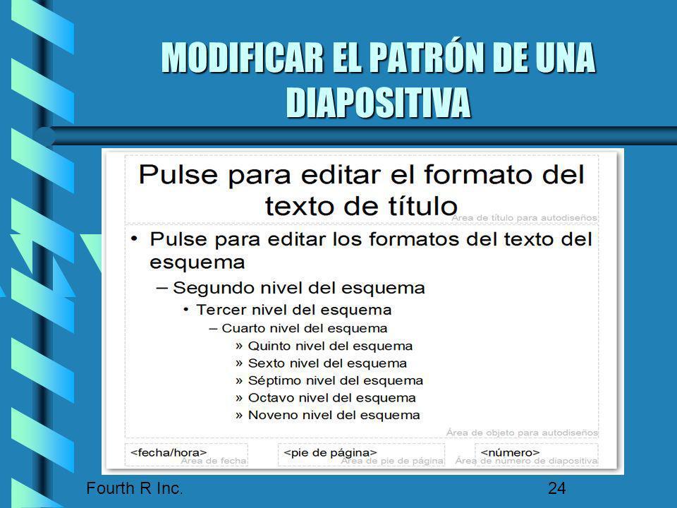 MODIFICAR EL PATRÓN DE UNA DIAPOSITIVA