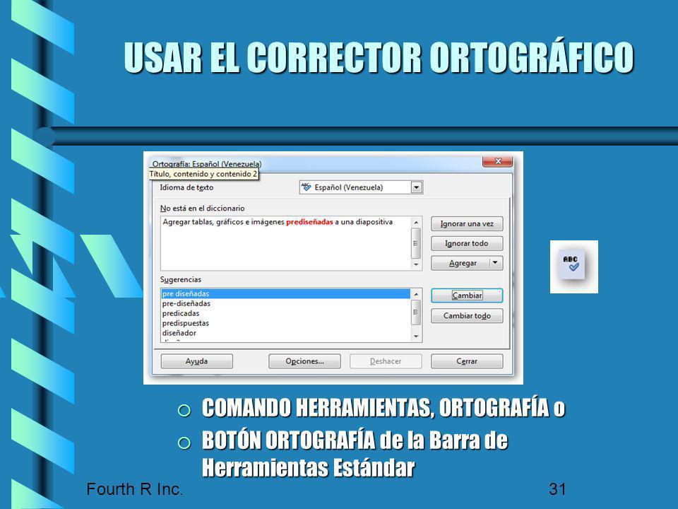 USAR EL CORRECTOR ORTOGRÁFICO