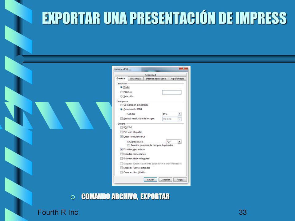 EXPORTAR UNA PRESENTACIÓN DE IMPRESS