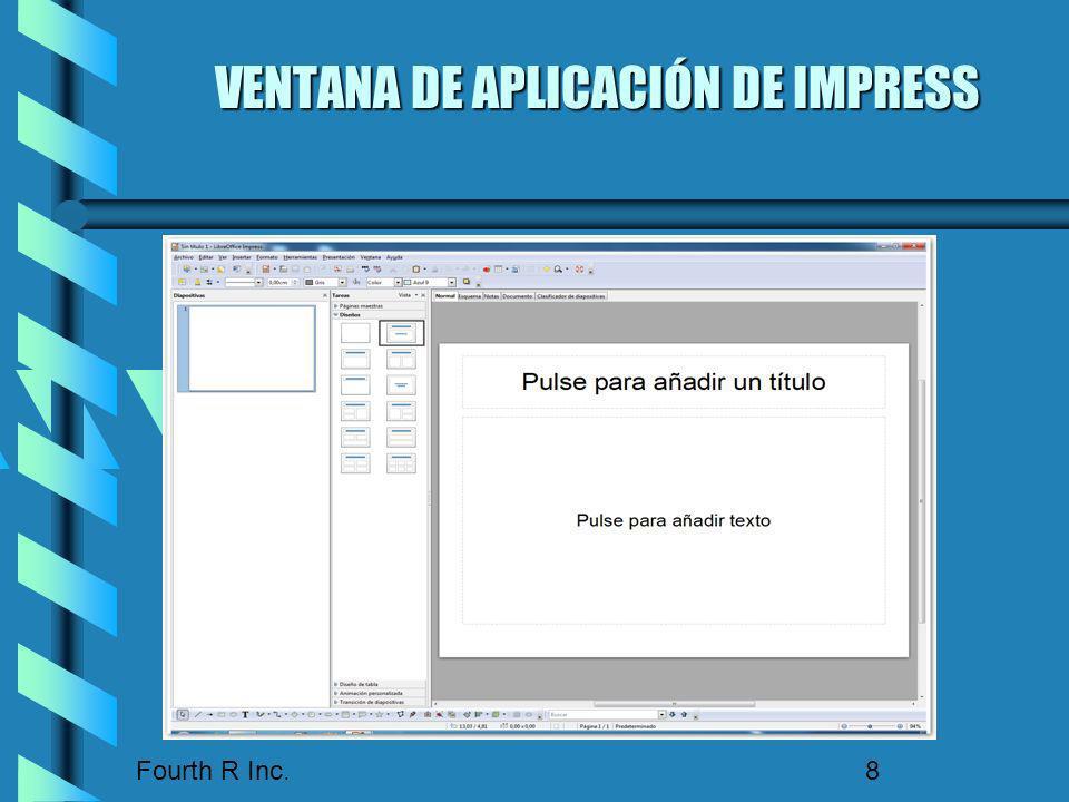 VENTANA DE APLICACIÓN DE IMPRESS