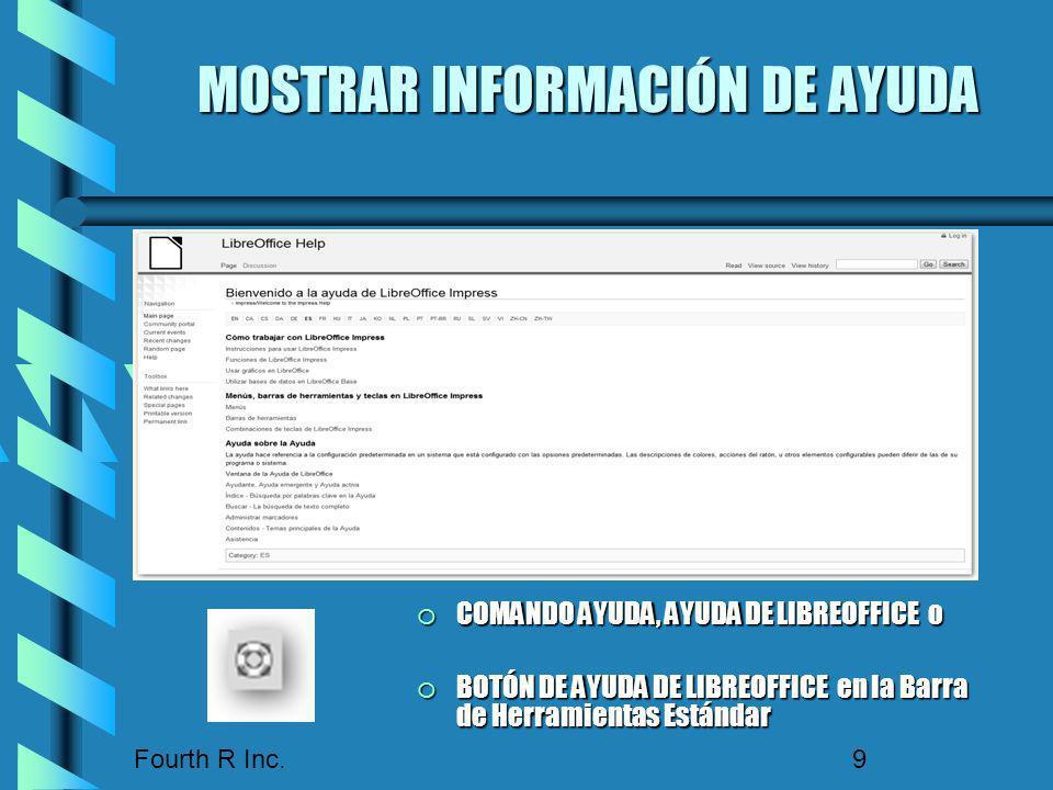 MOSTRAR INFORMACIÓN DE AYUDA