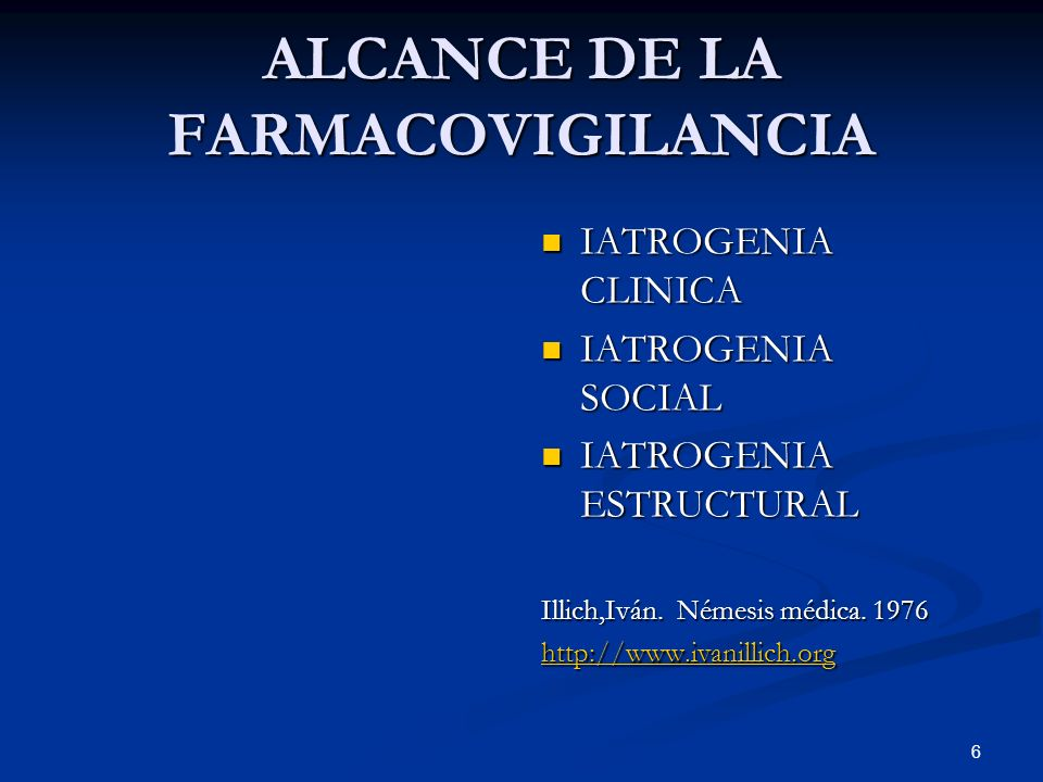ALCANCE DE LA FARMACOVIGILANCIA